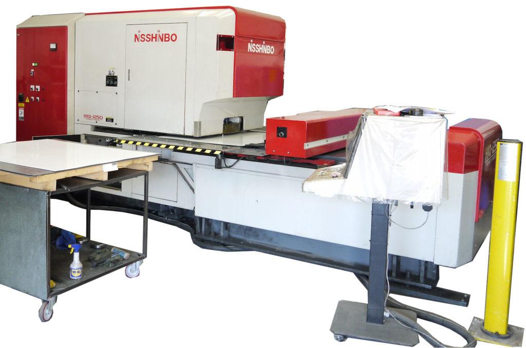 Nisshinbo hiq 1250 turret punch press picture Ad-tek